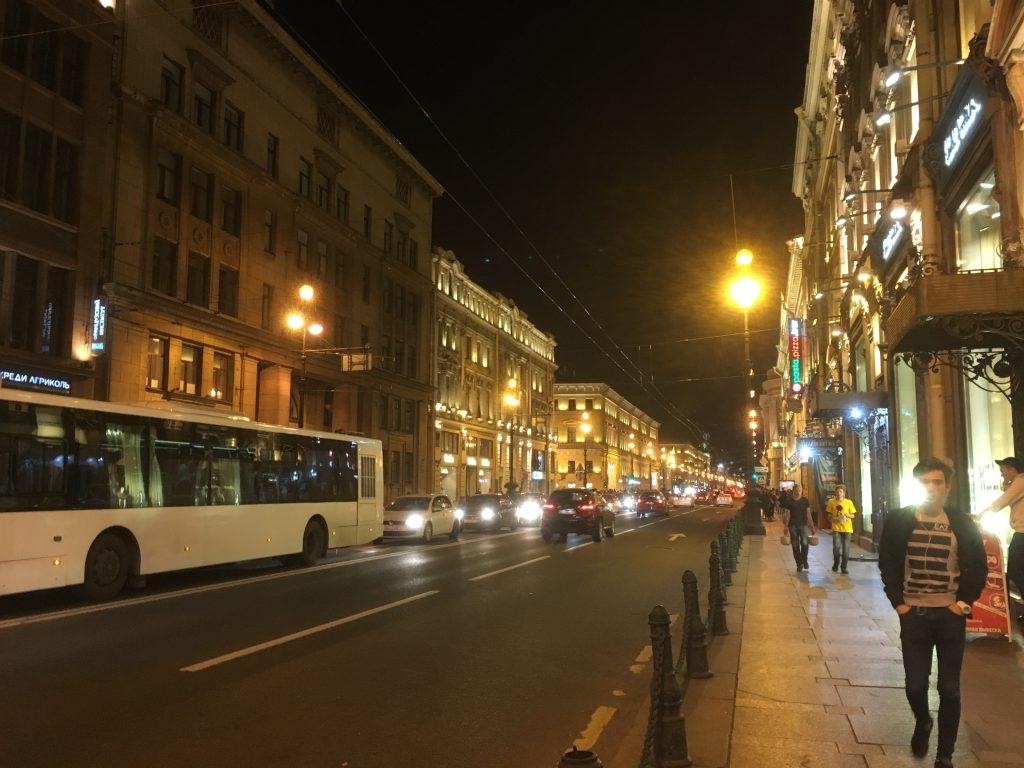 サンクトぺテルブルク夜景