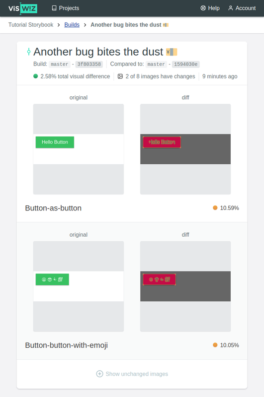 VisWiz.io Visual Regression Report