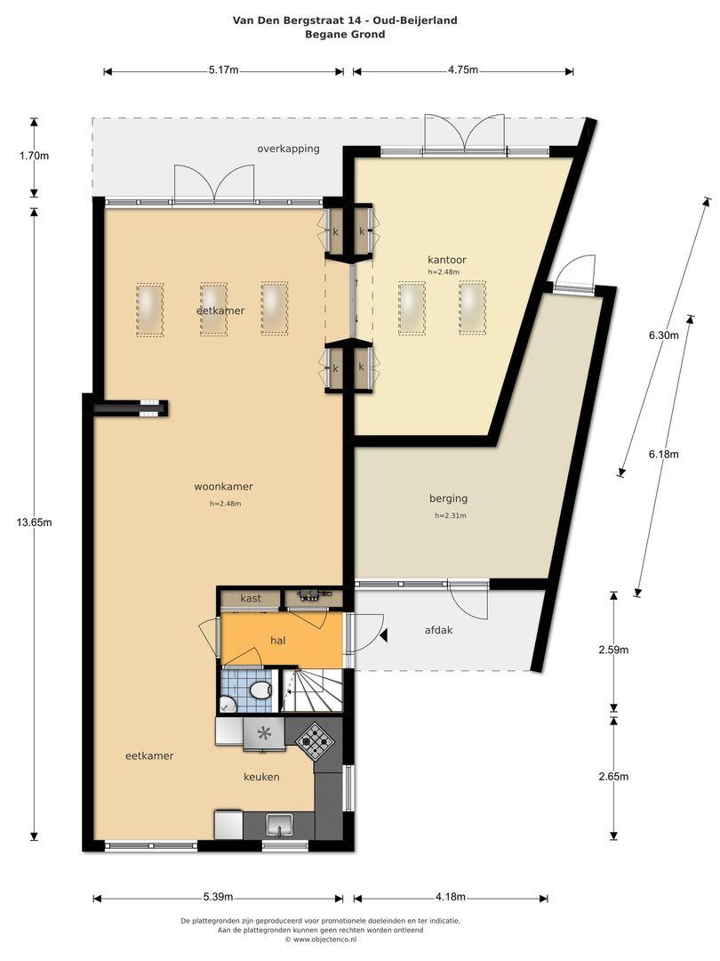 Van den Bergstraat 14 plattegrond-48