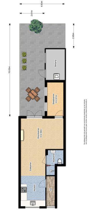 Warmoezierstraat 20, Delft plattegrond-1