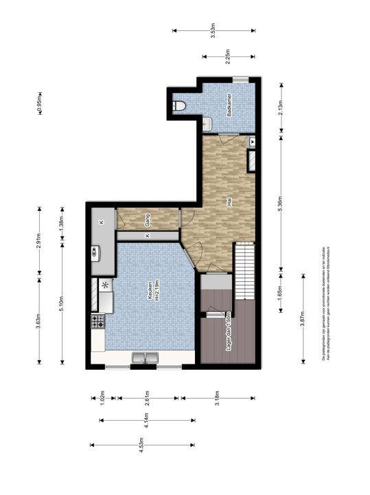 Oude Delft 134, Delft plattegrond-5