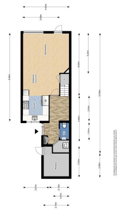 Boomkleverstraat 26, Delft plattegrond-1
