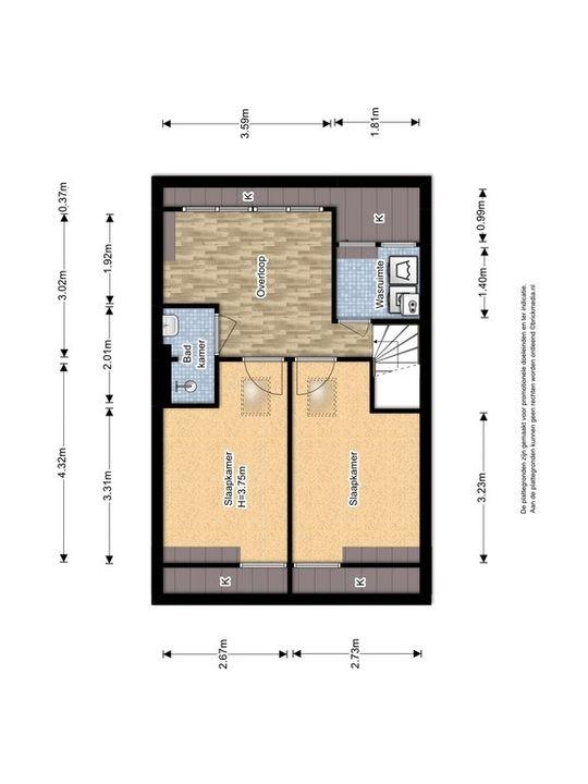 Julianalaan 99 ., Delft plattegrond-3