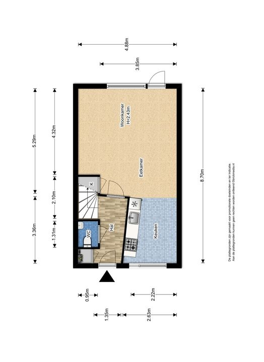 Raad van Europalaan 8, Delft plattegrond-0