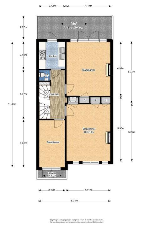 Heemskerkstraat 19, Delft plattegrond-2