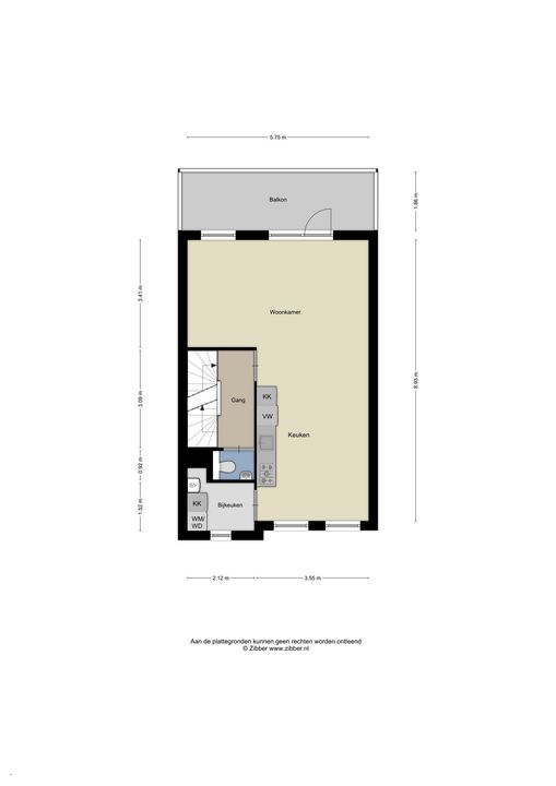 Oomskind 25, Den Hoorn plattegrond-2