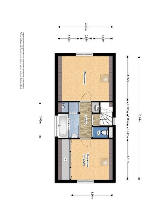 Laan van Overvest 11, Delft plattegrond-1