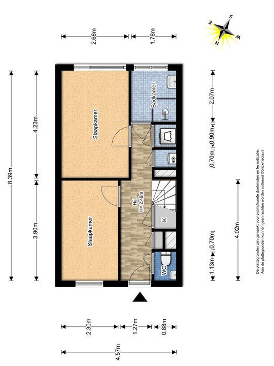 Gandhilaan 20, Delft plattegrond-0