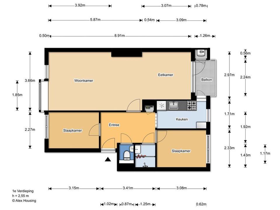 Persijnlaan 74, Delft plattegrond-0