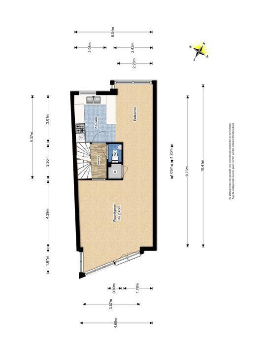 Waterloop 16, Delft plattegrond-1