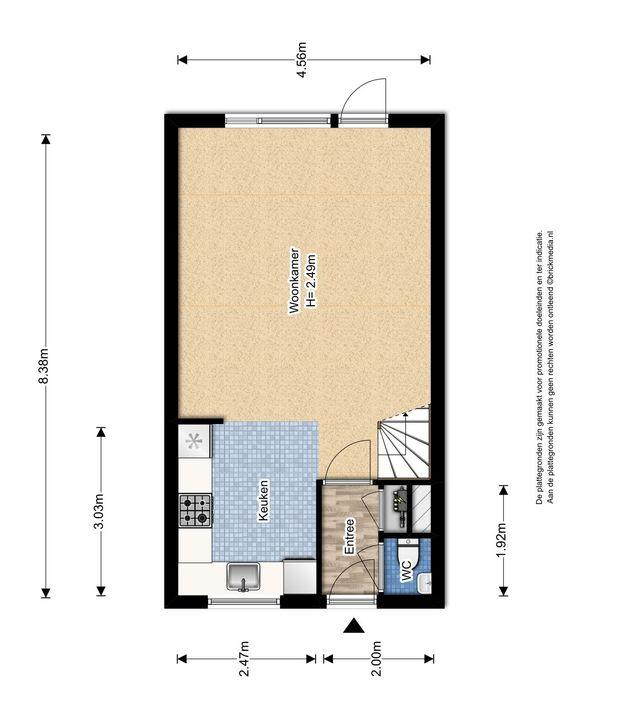 Gandhilaan 40, Delft plattegrond-0