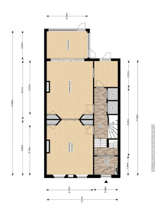 Oude Delft 134, Delft plattegrond-2