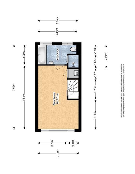 Oostblok 14, Delft plattegrond-1