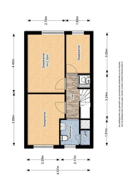 Gandhilaan 40, Delft plattegrond-1