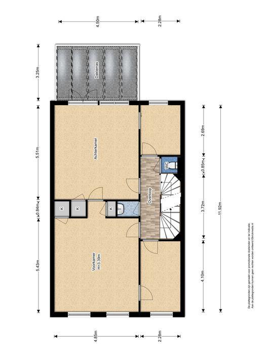 Oude Delft 134, Delft plattegrond-1