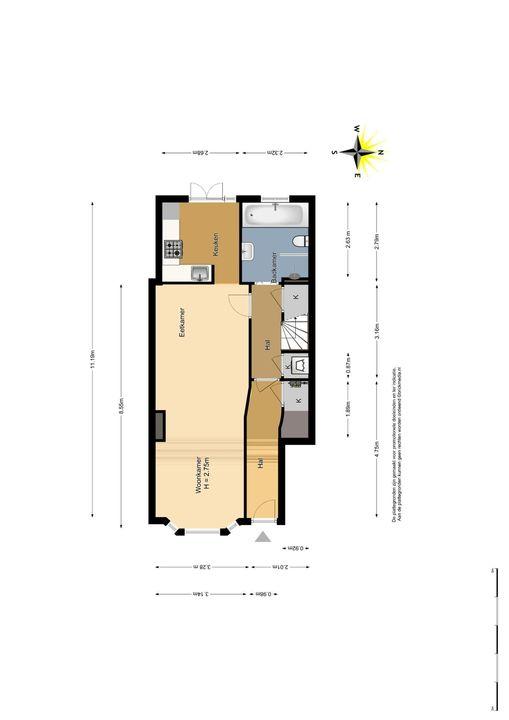 Caspar Fagelstraat 7 a, Delft plattegrond-0