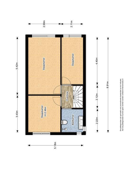 Pauwmolen 34, Delfgauw plattegrond-2