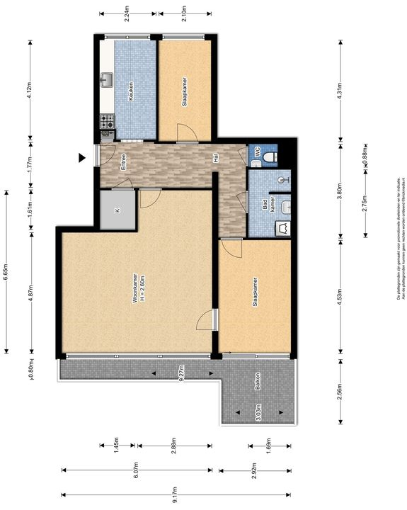 J.J. Slauerhofflaan 65, Delft plattegrond-0