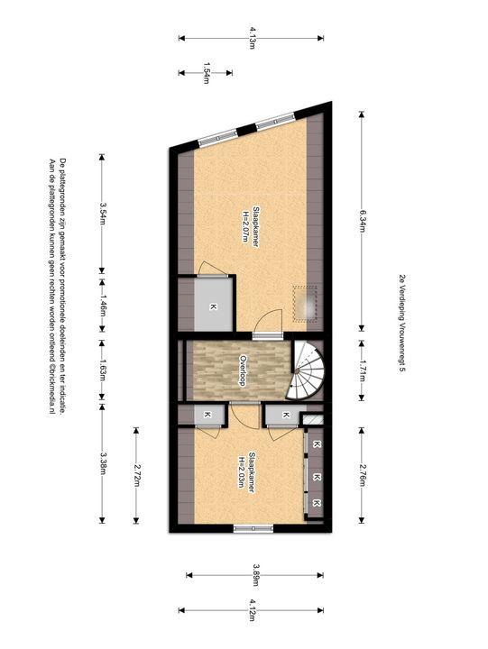Vrouwenregt 5, Delft plattegrond-2