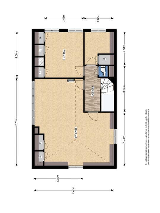 Oude Delft 134, Delft plattegrond-3