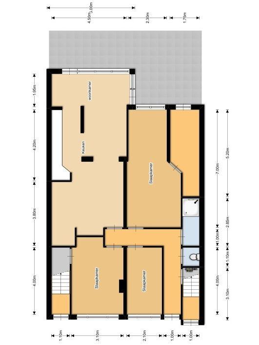 Van Bossestraat 50, Delft plattegrond-0