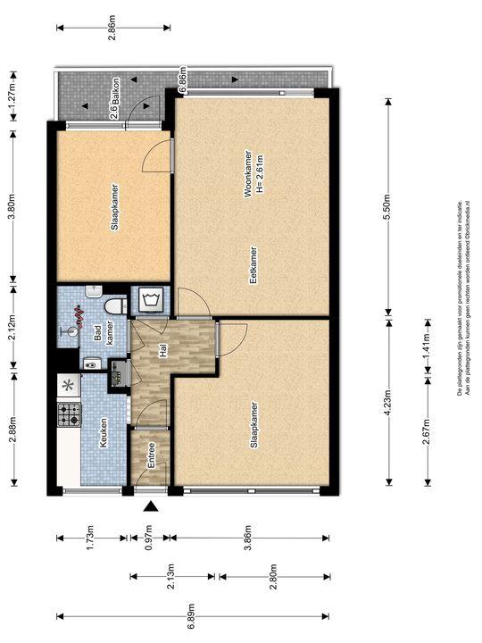Hendrik Tollensstraat 348, Delft plattegrond-0