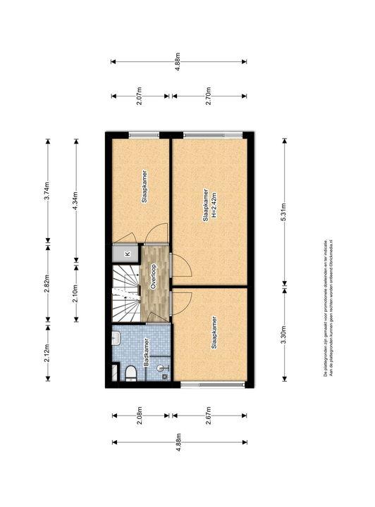 Raad van Europalaan 8, Delft plattegrond-1