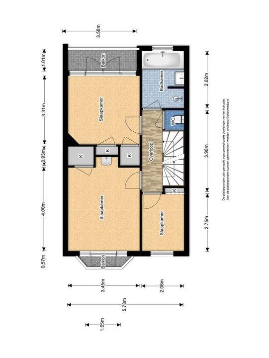 Julianalaan 99 ., Delft plattegrond-2