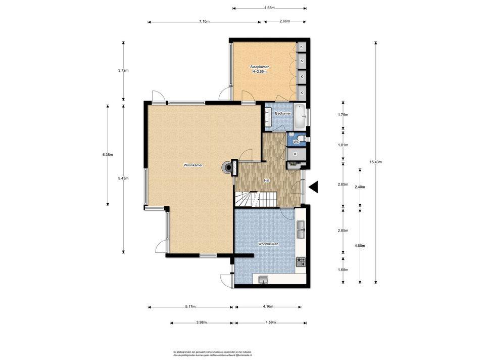 Gerbrandylaan 23, Delft plattegrond-1