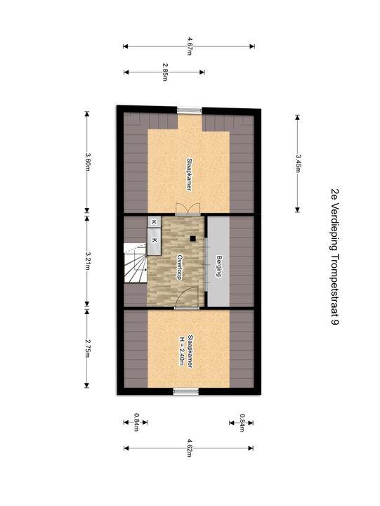 Vrouwenregt 5, Delft plattegrond-5