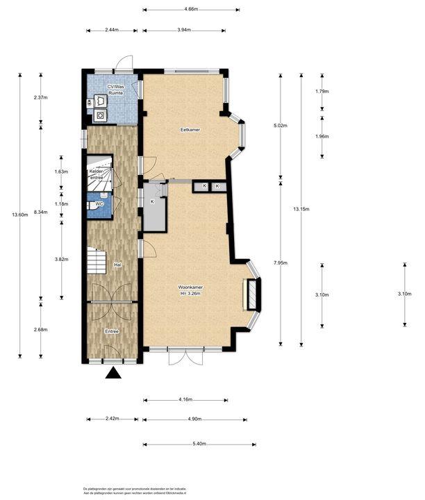 Heemskerkstraat 19, Delft plattegrond-1