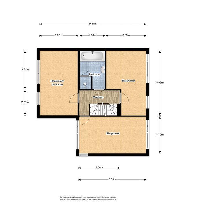 Letterzetterhof 21, Delfgauw plattegrond-1