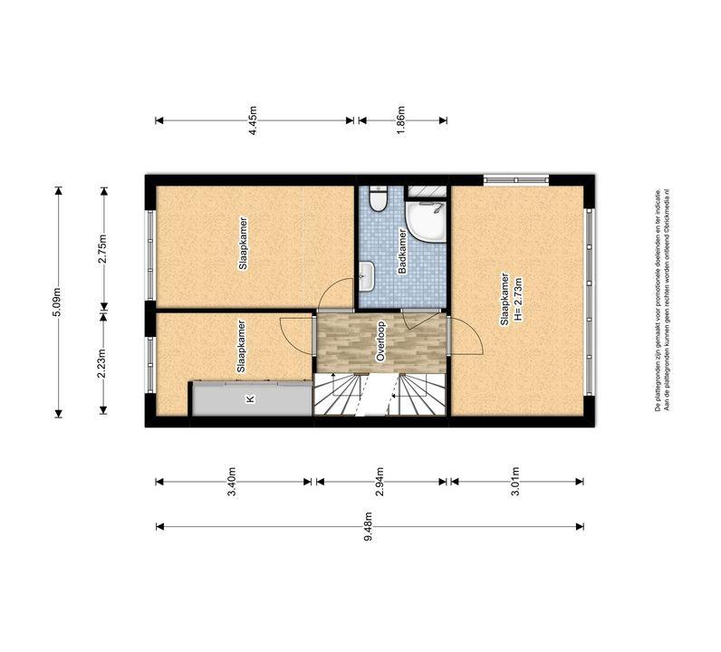 Molensingel 47, Delft plattegrond-1