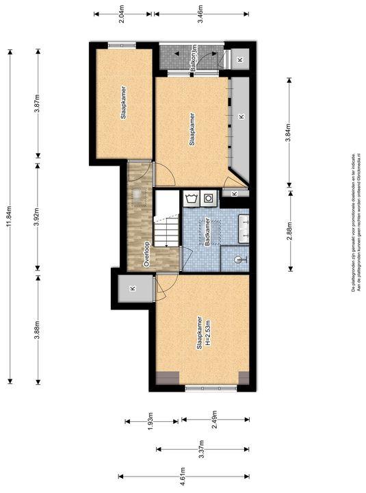 Van der Heimstraat 41, Delft plattegrond-2