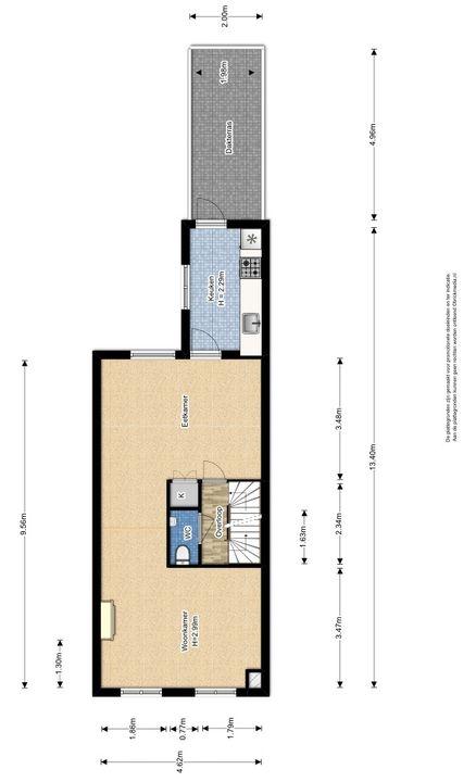 Warmoezierstraat 42, Delft plattegrond-1