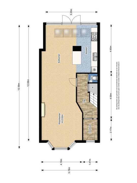Julianalaan 99 ., Delft plattegrond-1