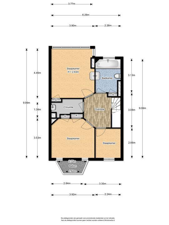 Weverslaan 31, Voorburg floorplan-1