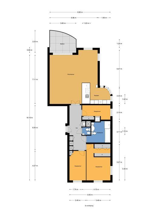 Spinozalaan 1 B-II, Voorburg floorplan-0