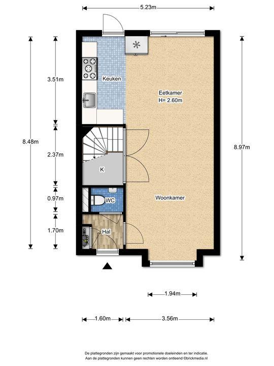 Biancaland 130, Den Haag floorplan-0