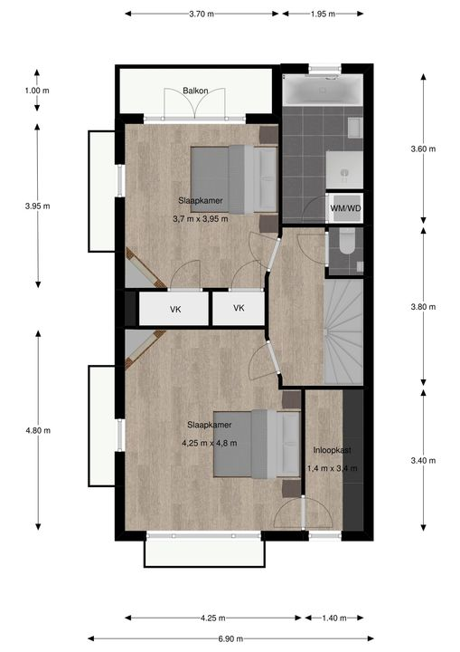 van Pabstlaan 28, Voorburg floorplan-2