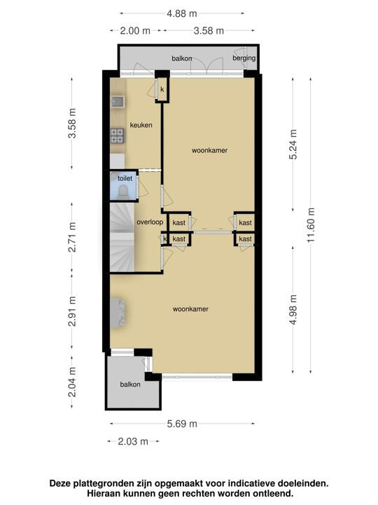Laan van Nieuw Oosteinde 207, Voorburg floorplan-1