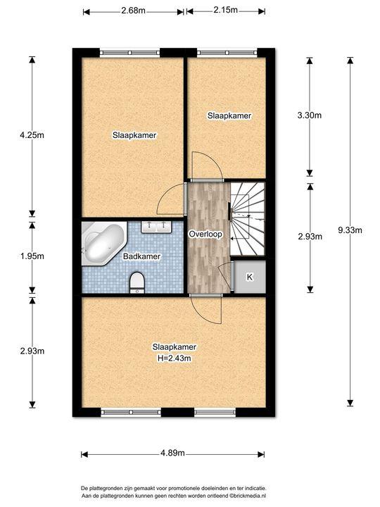 Prins Bernhardlaan 331, Voorburg floorplan-1