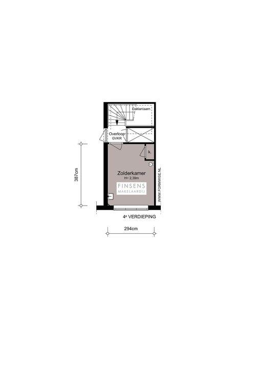 Courbetstraat 33 -I, Upper floor apartment in Amsterdam Plattegronden-1