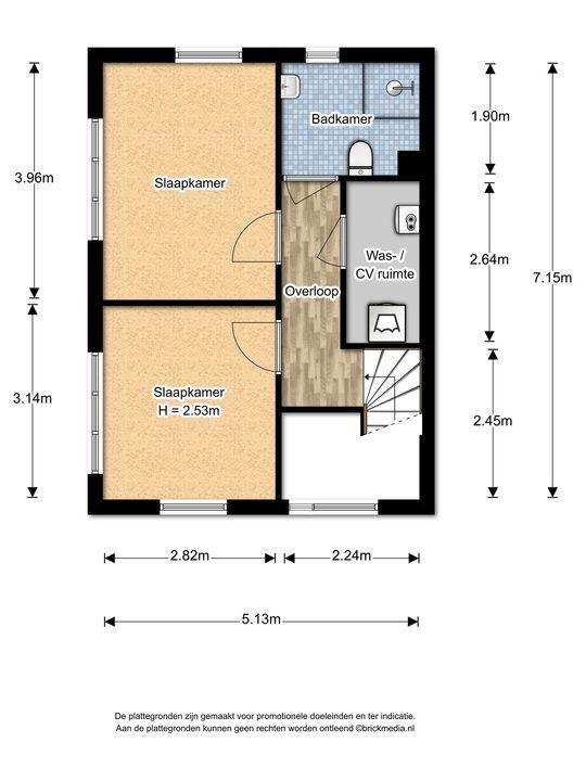 An Vellekoophof 1, Voorburg floorplan-2