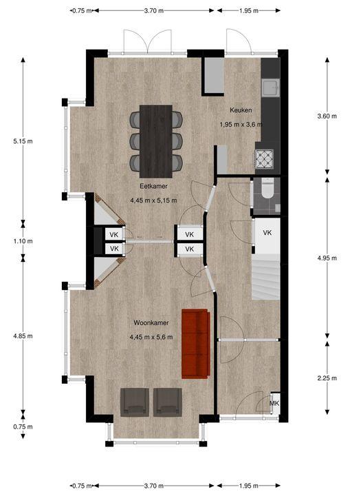 van Pabstlaan 28, Voorburg floorplan-1