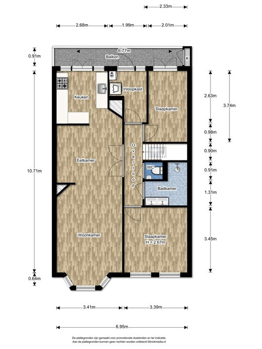 Voorthuizenstraat 117, Den Haag floorplan-1