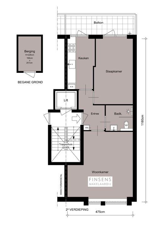 Zoutkeetsgracht 262, Upper floor apartment in Amsterdam Plattegronden-0