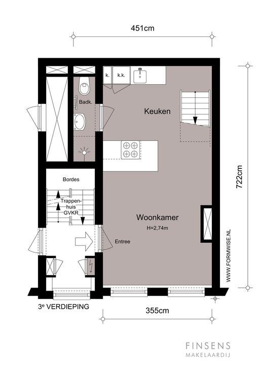 Da Costastraat 135 III -R, Bovenwoning in Amsterdam Plattegronden-0