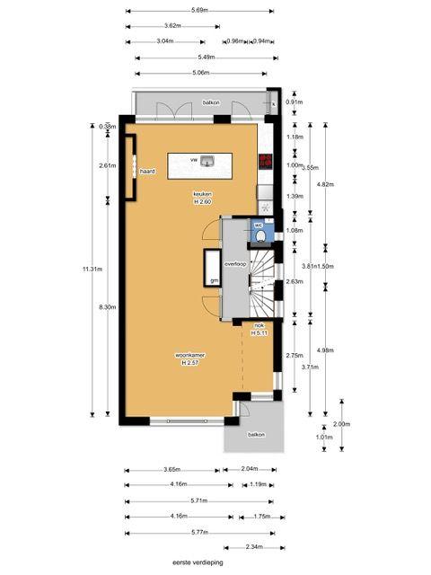 Laan van Nieuw Oosteinde 374, Voorburg floorplan-1