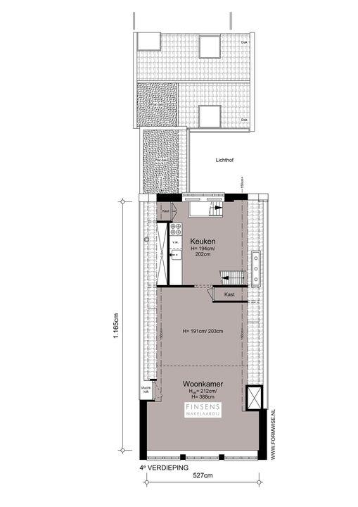 Binnenkant 31 -bv, Bovenwoning in Amsterdam Plattegronden-1